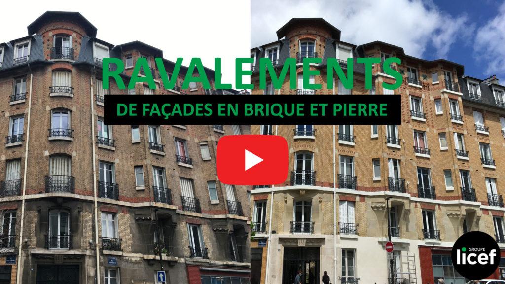 RAVALEMENT DE FACADES EN BRIQUE ET PIERRE AVEC EDIFICA